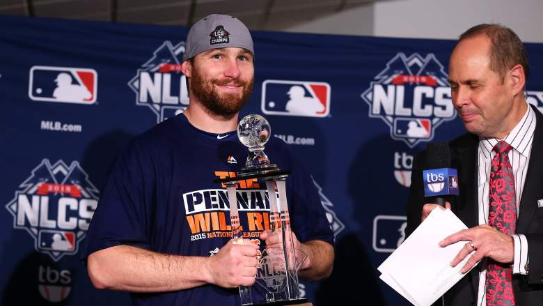 The Mets' Daniel Murphy was named the NLCS MVP. (Getty)