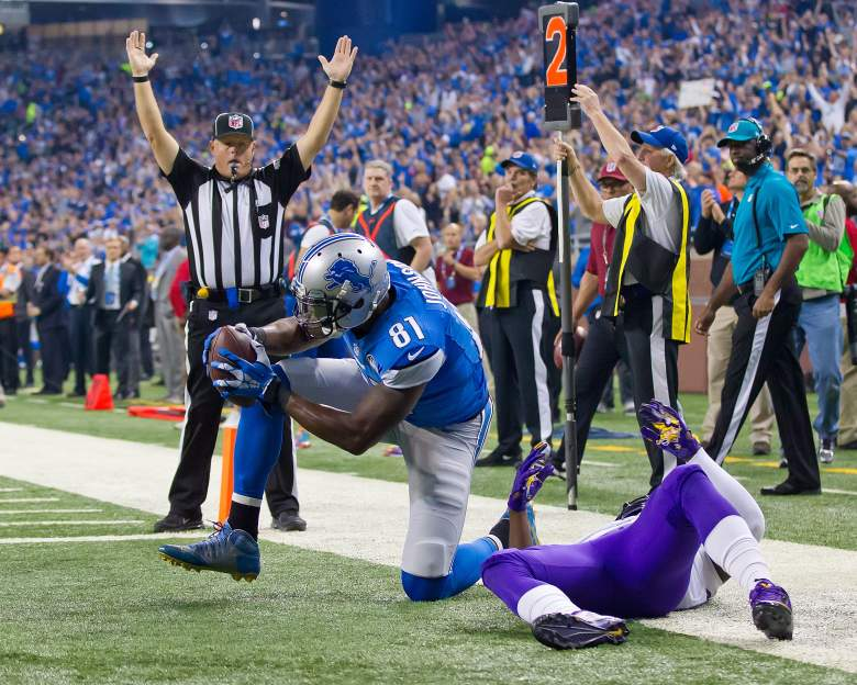 Calvin Johnson still gives defenses fits. (Getty)