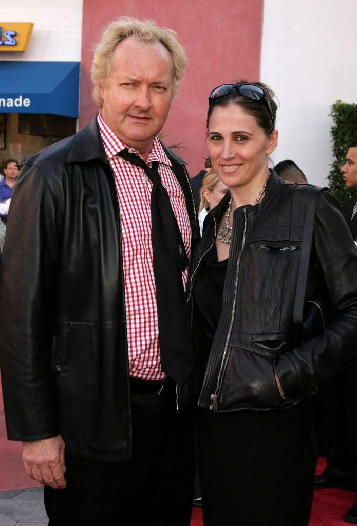 """UNIVERSAL CITY, CA - MAY 23: Actor Randy Quaid (L) and Evi Quaid arrive at the premiere of """"Cinderella Man"""" at Gibson Amphitheatre at Universal CityWalk on May 23, 2005 in Universal City, California. (Photo by Kevin Winter/Getty Images)"""