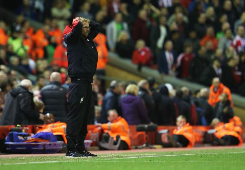 Jurgen Klopp has been disappointed since being named Liverpool manager, drawing each of his three matches. (Getty0