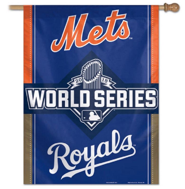 mets royals world series banner gear apparel