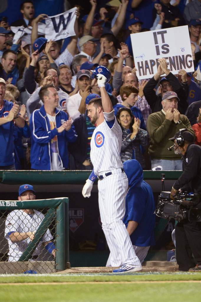 Rookie third baseman Kris Bryant looks to guide the Chicago Cubs to their first World Series appearance since 1945. (Getty)