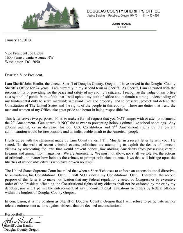 John Hanlin, John Hanlin letter