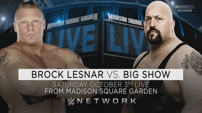 WWE Live at MSG Lesnar