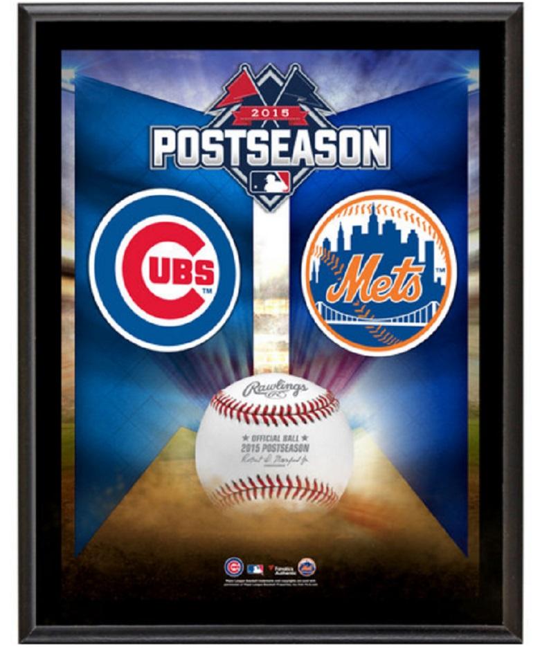 Mets vs. Cubs NLCS plaque mets cubs gear
