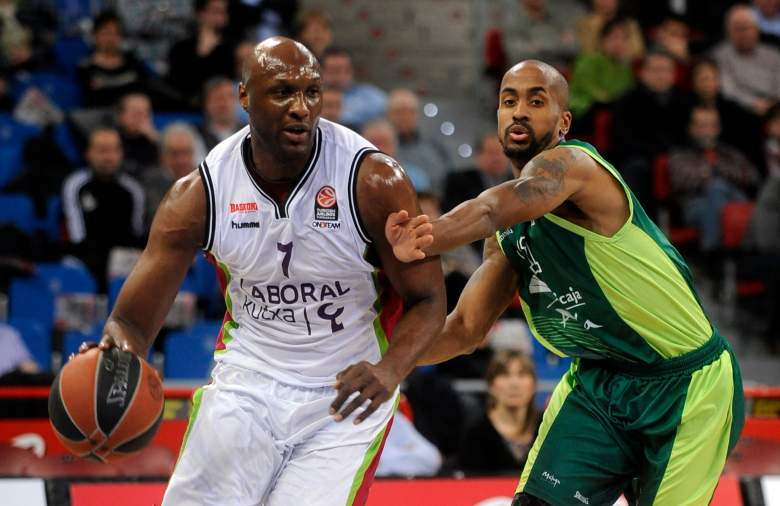 Although he was rumored to sign with the New York Knicks, Odom last played professional basketball with Laboral Kutxa of the Euroleague. (Getty)