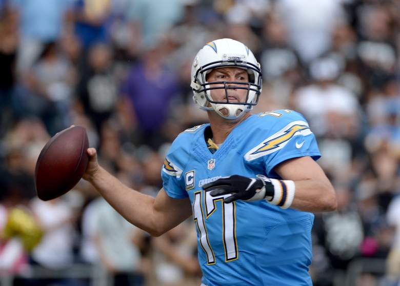 Phillip Rivers is used to throwing touchdown passes for the San Diego Chargers, but he has scored another child with a daughter being born on October 29, 2015. (Getty)