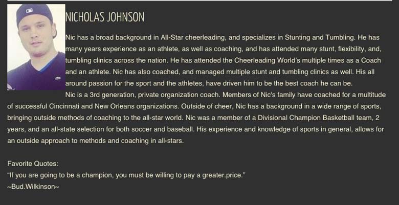Nicholas Johnson Full House All Stars profile