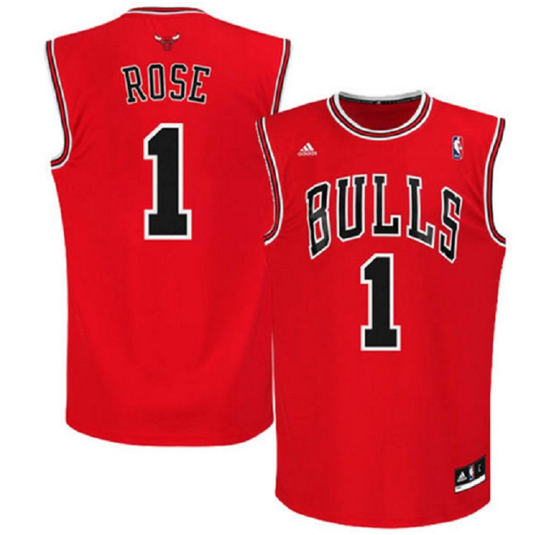 Derrick rose bulls jersey chicago bulls apparel