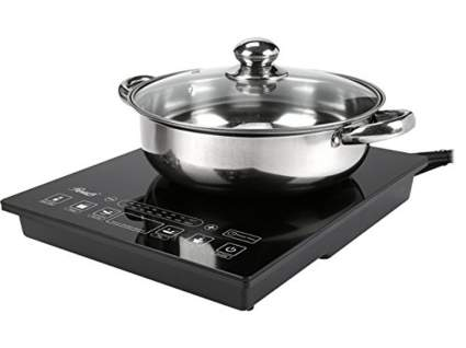 Rosewill RHAI-15001 1800W 5 Pre-Programmed Settings Induction Cooker Cooktop with Stainless Steel Pot, induction cooktop, induction cooker