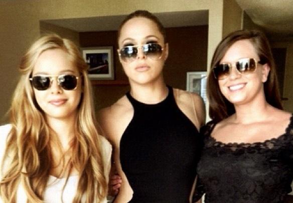 Julia (left) with Ronda (center). (Instagram/rondarousey)
