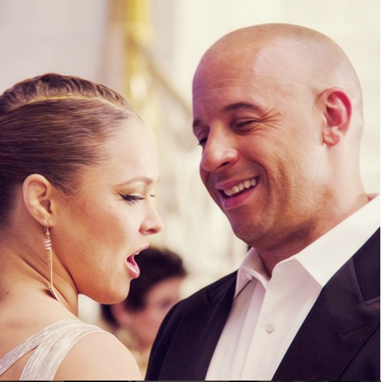 Ronda Rousey and Vin Diesel