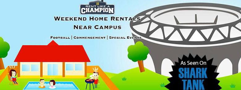 rent like a champion, football apartments, football housing rentals, college football housing rentals, college football house rentals, college football apartment rentals