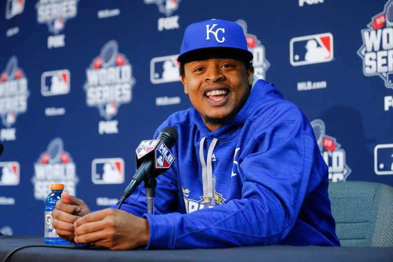 Edinson Volquez was in good spirit before his first World Series start, but his mood became somber with the news of his father's death. (Getty)