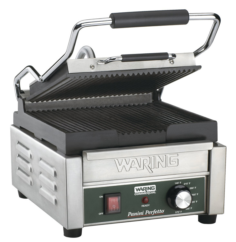 Waring Commercial WPG150 Compact Italian-Style Panini Grill, waring pro, sandwich maker, panini grill