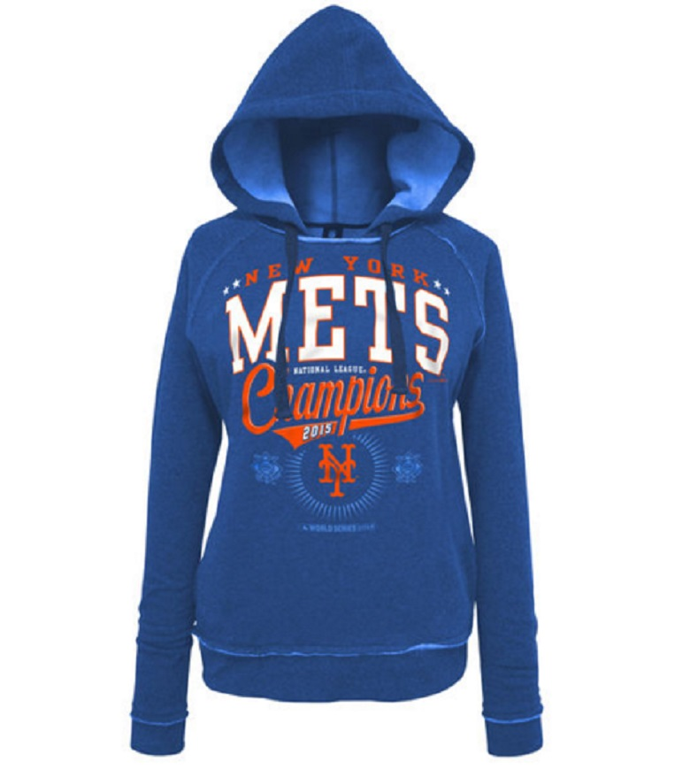 mets women's hoodie mets world series apparel