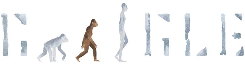41st Anniversary of the discovery of Lucy Google Doodle
