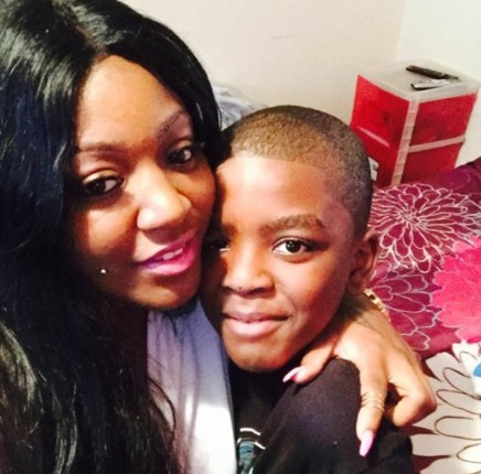 Tyshawn Lee, with his mother, Karla.(GoFundMe)