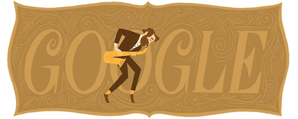 Adolphe Sax, Adolphe Sax Google Doode