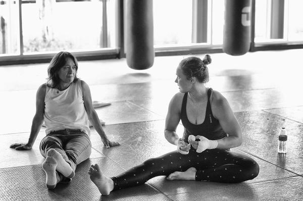 AnnMaria De Burns (left) with Ronda. (Twitter/DrAnnMaria)
