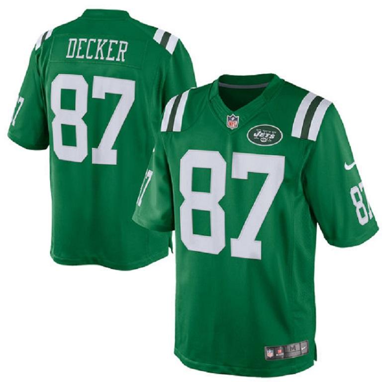 jets eric decker color rush jersey nfl apparel