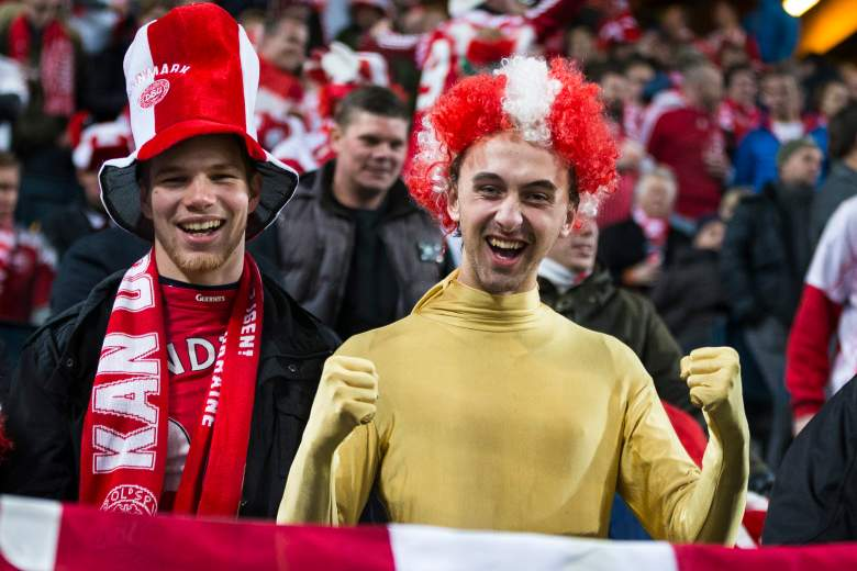 Danish fans traveled in force to Sweden for the European Championship, but watched Denmark fall 2-0 to Sweden. (Getty)
