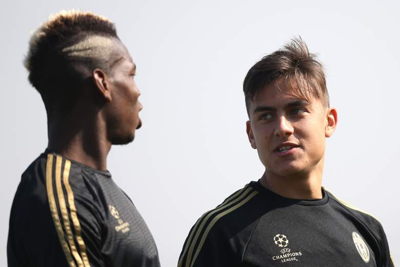 Paul Pogba and Paulo Dybala look to fuel the Juventus attack against Borussia Monchengladbach on November 3, 2015. Getty