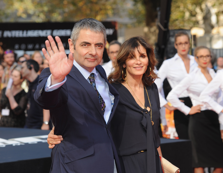 Rowan Atkinson and his wife Sunetra Sastry