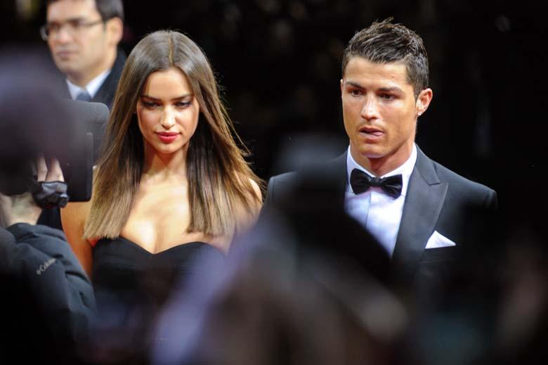 Cristiano Ronaldo and Russian model Irina Shayk
