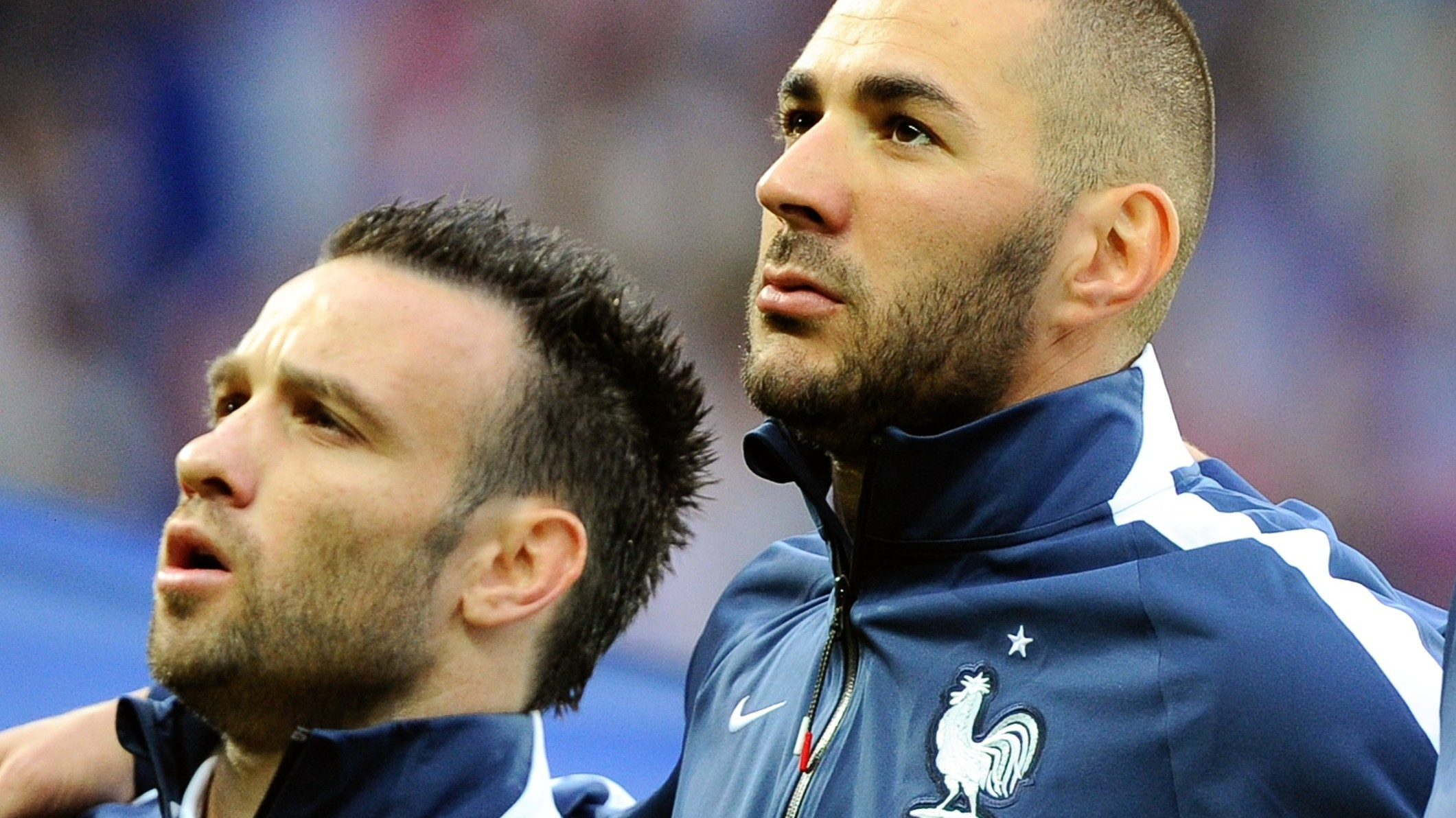 Mathieu Valbuena and Karim Benzema and Oliver Giroud, French national soccer team