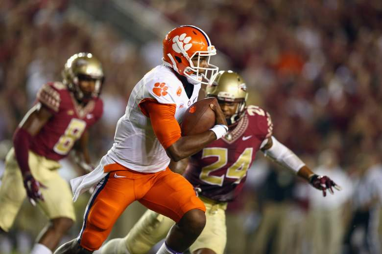 Clemson takes on Florida State in a battle for the ACC. (Getty)