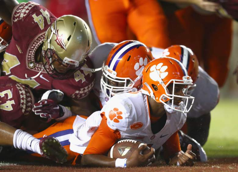 Clemson hosts FSU this afternoon in a battle for the ACC. (Getty)