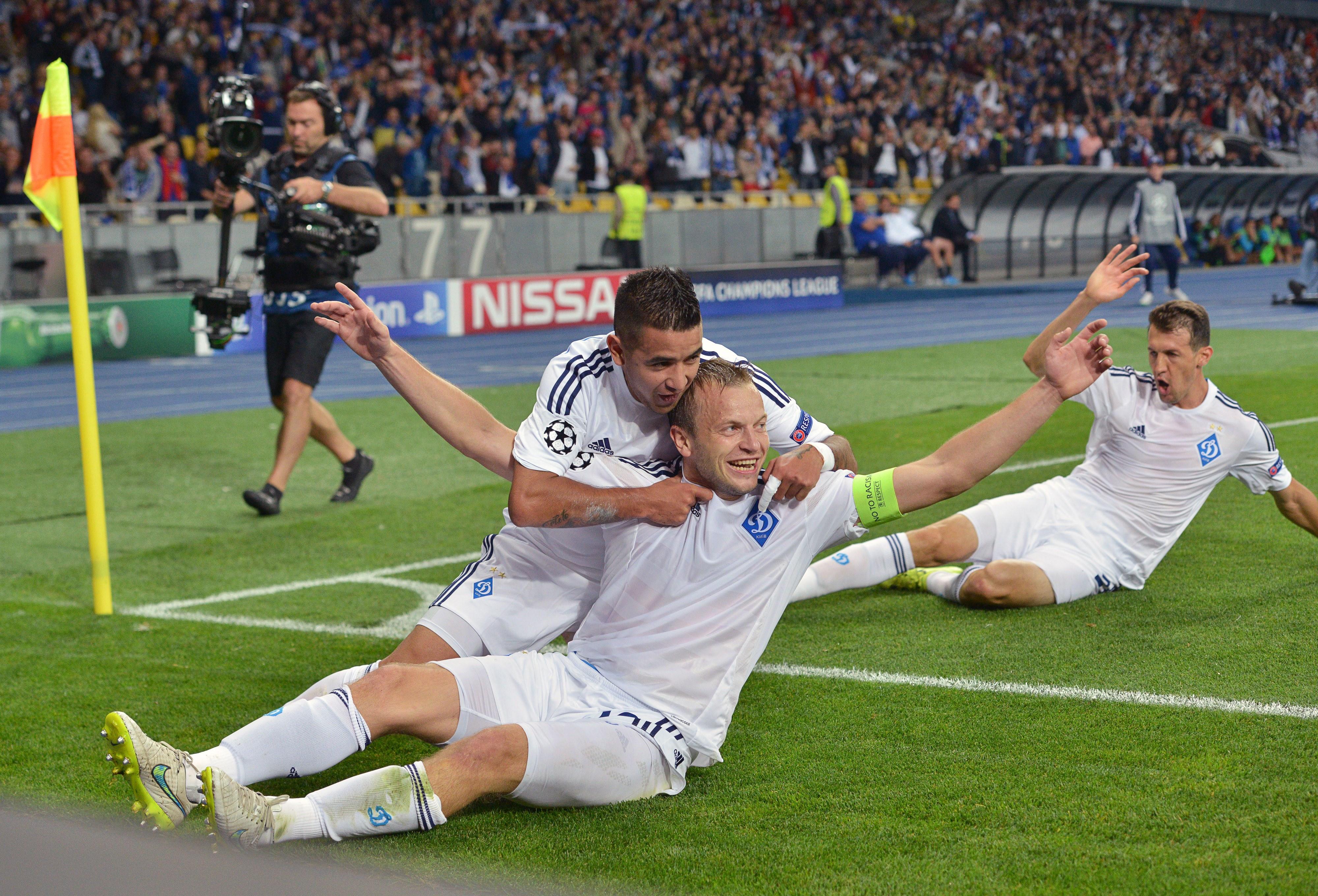 Oleh Husev leads Kyiv in UCL scoring this season. (Getty)