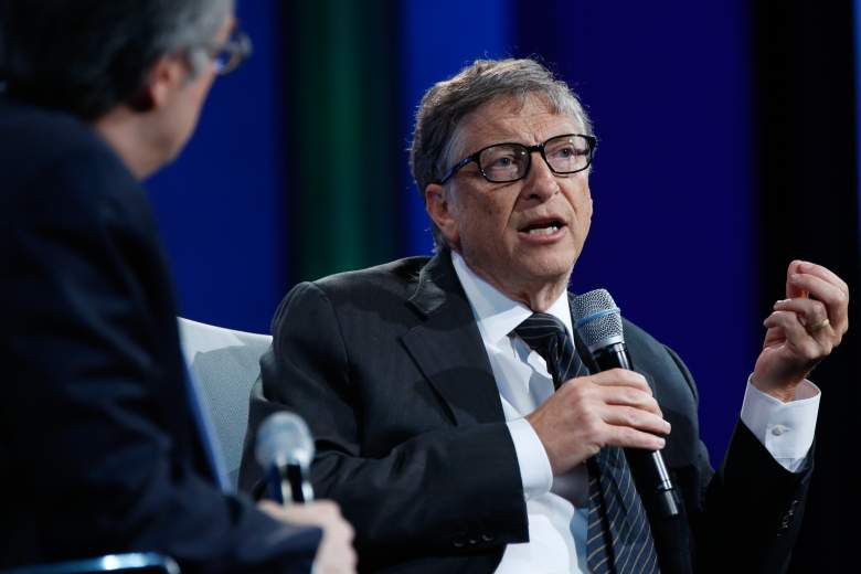 NEW YORK, NY - SEPTEMBER 27: Bill Gates speaks on stage at the Plenary Session: Investing in Prevention and Resilient Health Systems during the second day of the 2015 Clinton Global Initiative's Annual Meeting at the Sheraton New York Hotel & Towers on September 27, 2015 in New York City. (Photo by JP Yim/Getty Images)