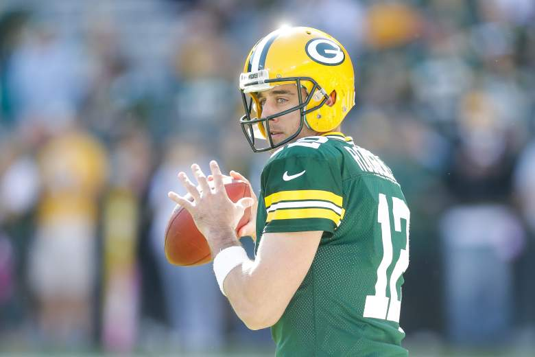 Aaron Rodgers started his career backing up Brett Favre. (Getty)