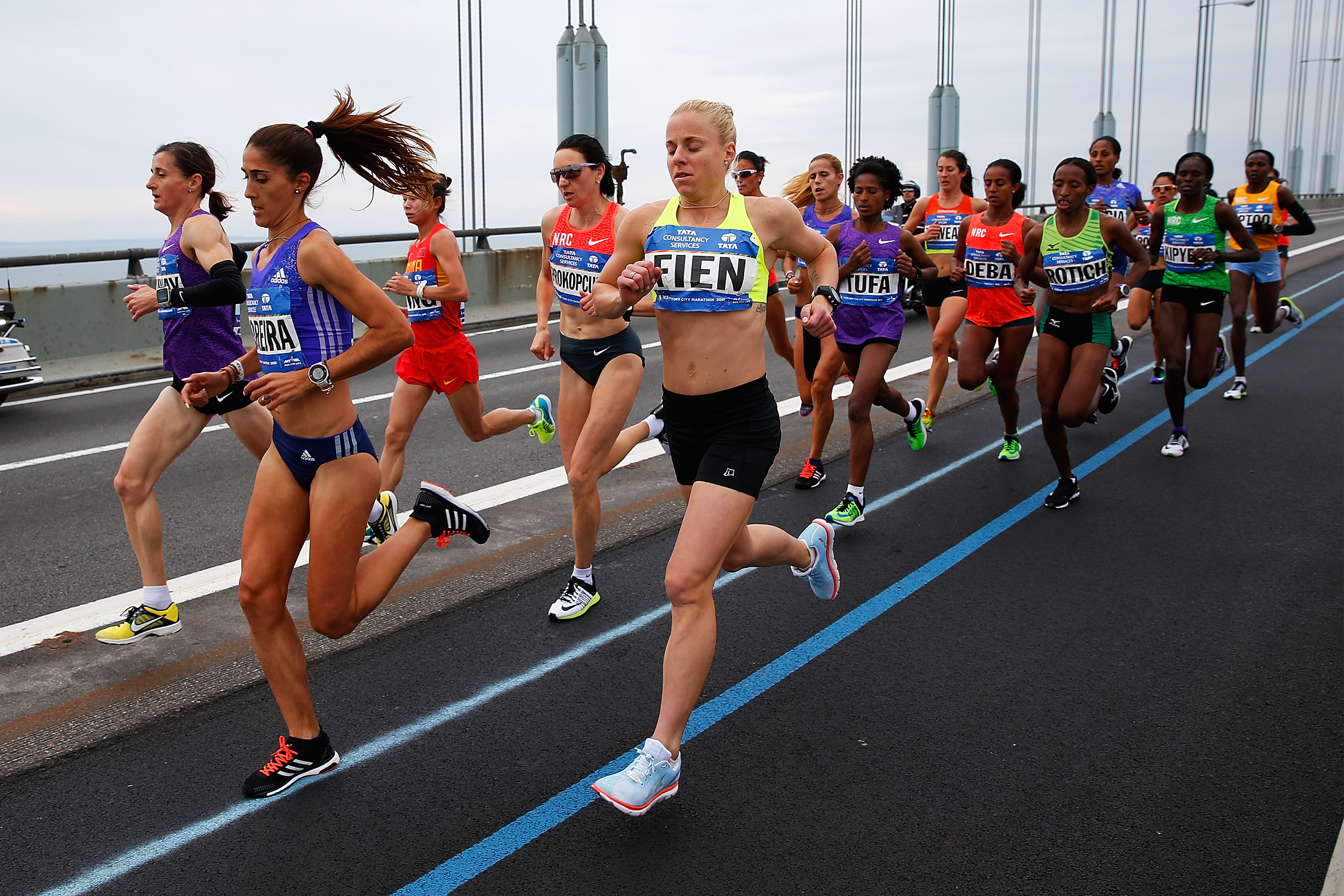 Portugal's Sara Moreira set the pace early for the elite women. (Getty)