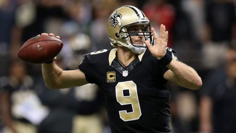 New Orleans Saints quarterback Drew Brees threw 7 touchdowns in Week 8. (Getty)
