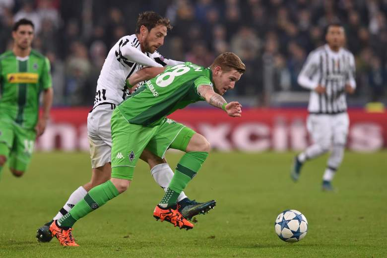 Andre Hahn's crafty play for Borussia Moenchengladbach has only led to one point in the Champions League for the Germans.  (Getty)