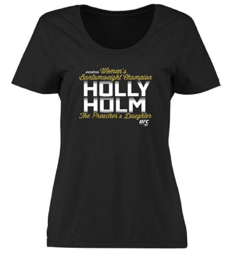 holly holm women's shirt ufc gear