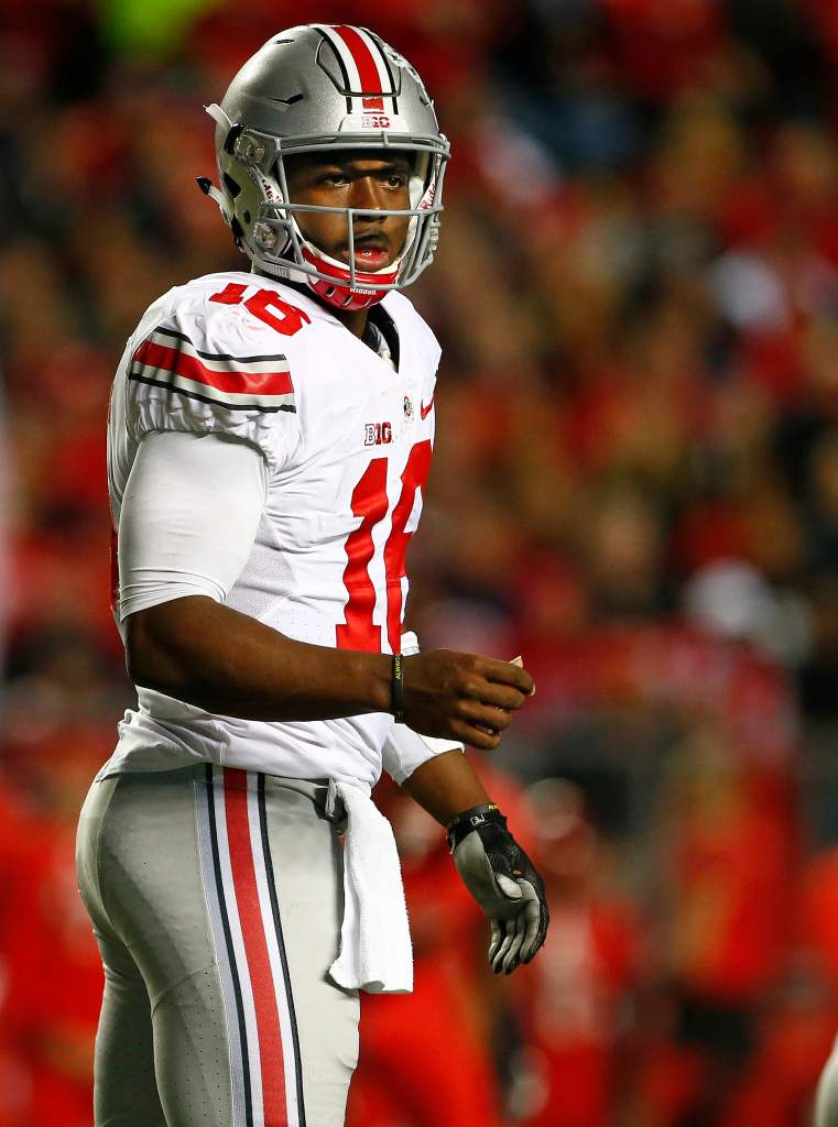 Although J.T. Barrett is in legal troubles, he is still an instrumental part of the top ranked Ohio State Buckeyes. (Getty)