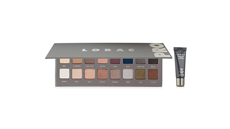 lorac 16 color eyeshadow palette with mini eyeshadow primer