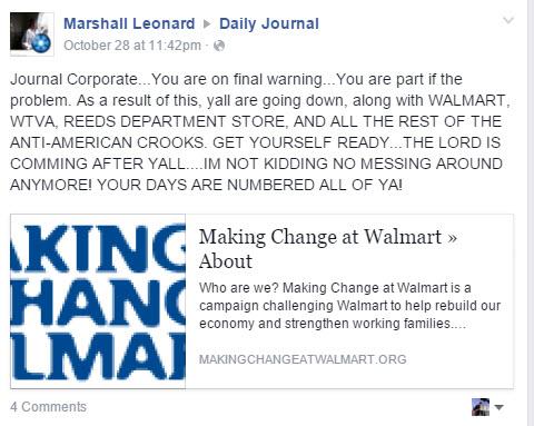 Marshall Leonard, Marshall Leonard Mississippi, marshall leonard walmart