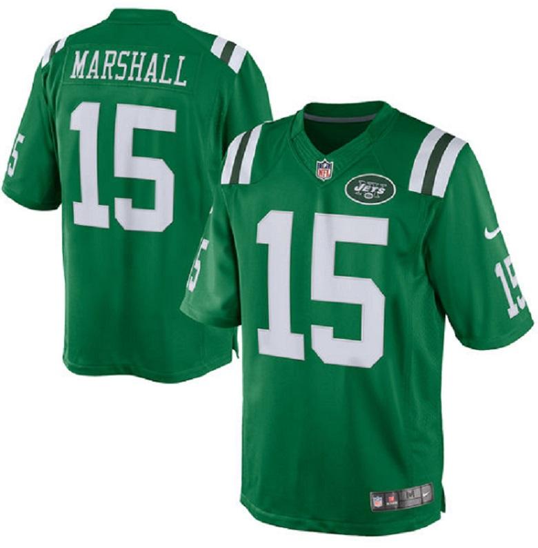 jets brandon marshall color rush jersey nfl gear