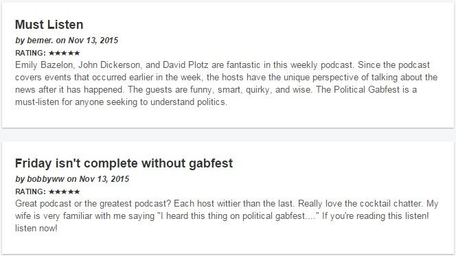 reviews of gabfest
