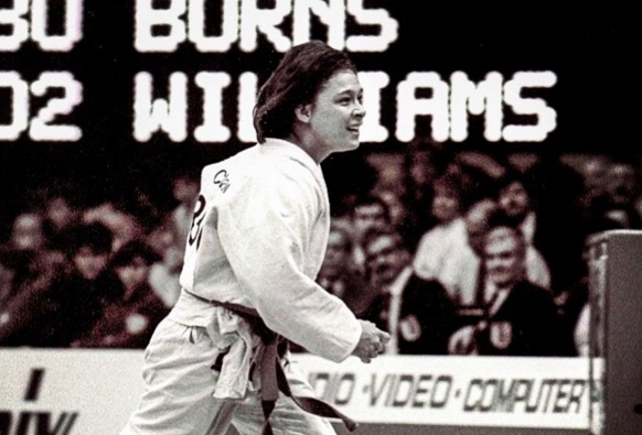 AnnMaria de Mars after winning the World Judo Championships in 1984. (Instagram/RondaRousey)