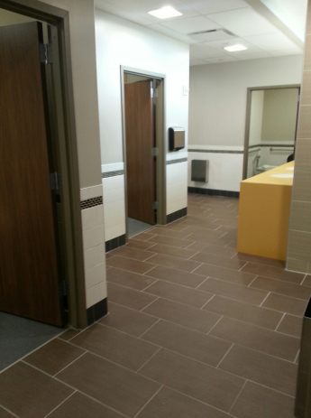A bathroom at the University of Missouri's Gateway Hall. (University of Missouri)