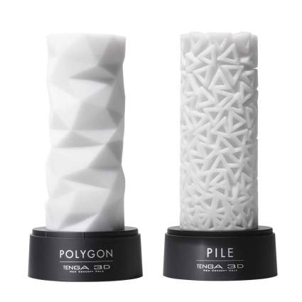 White geometric pillars