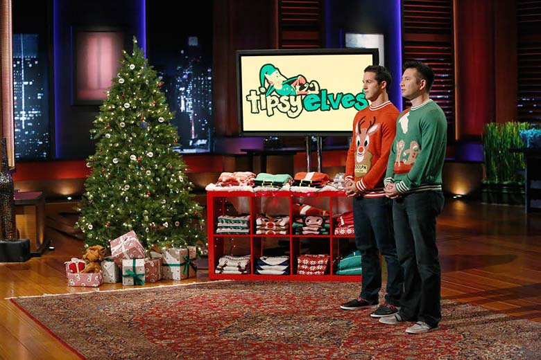 ugly christmas sweaters, tipsy elves shark tank, shark tank products, shark tank november 6
