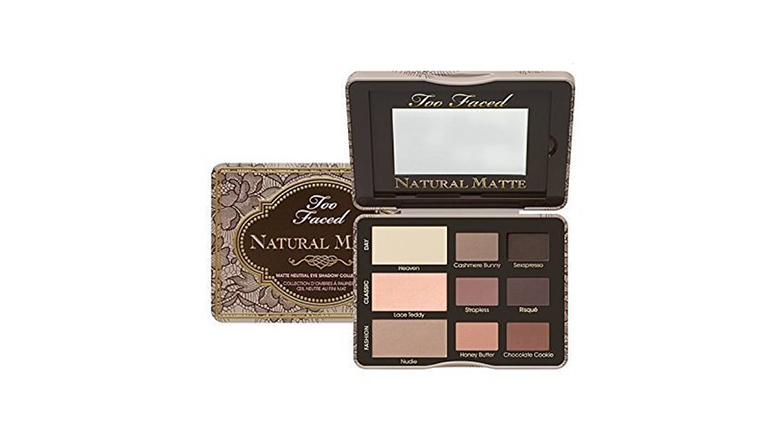 too faced nine color natural matte eyeshadow palette