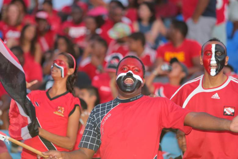 Trinidad and Tobago fans cheered for their side during a 0-0 draw in a 2018 World Cup Qualifier between Trinidad and Tobago and USA at Hasely Crawford Stadium on November 17, 2015 in Port of Spain, Trinidad & Tobago. (Getty)